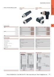 Weidmuller M8 & M12 Customisable Connectors
