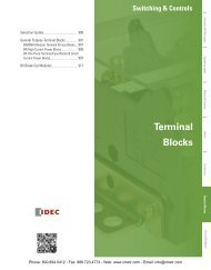 IDEC Terminal & Fuse Blocks Catalog