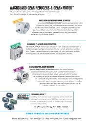 LEESON WASHGUARD & Stainless Steel Worm Gear Reducers