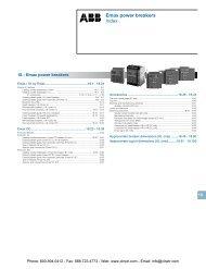 ABB Emax Air Circuit Breakers Catalog