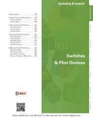 IDEC Switches & Pilot Devices Catalog