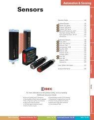 IDEC / Datasensor Sensors - Clearwater Technologies, Inc.