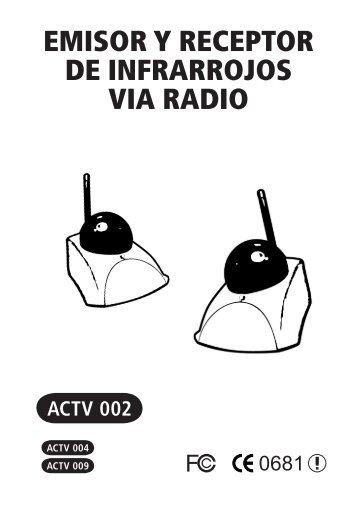EMISOR Y RECEPTOR DE INFRARROJOS VIA RADIO - Molgar
