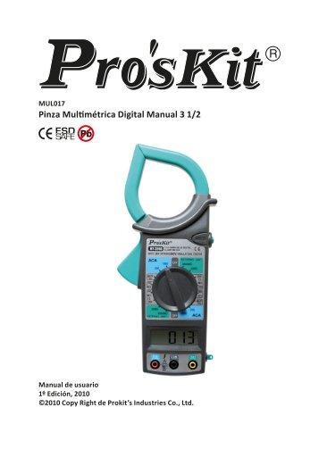 Pinza Multimétrica Digital Manual 3 1/2 - Molgar