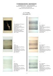 SCHIRMER/MOSEL SHOWROOM Cy Twombly Photographs III