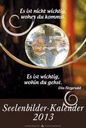 Seelenbilder-Kalender 2013 - Schirner Verlag