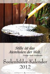 Seelenbilder-Kalender 2012 - Schirner Verlag