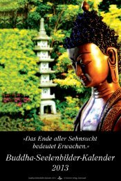 Buddha-Seelenbilder-Kalender 2013 © Schirner Verlag, Darmstadt ...