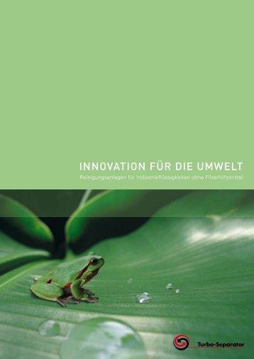 INNOVATION FüR DIE UMWELT