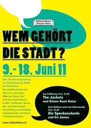 WEM GEHÖRT DIE STADT - Schlachthaus Theater Bern
