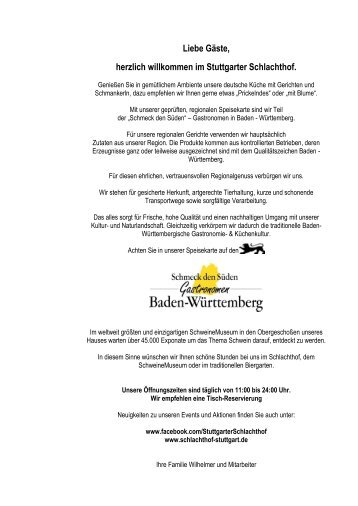 Aperitif Sekt & Champagner - Stuttgarter Schlachthof