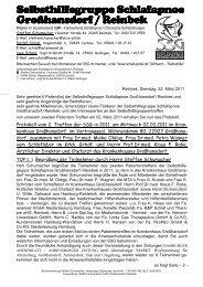 protokoll ssg treffen krkh.grßhsdf. 02-03-2011 lunge ... - Schlaf-Portal