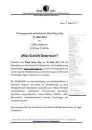 Presseaussendung 7 3 11.pdf - Österreichische Gesellschaft für ...