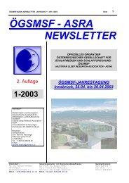 Newsletter 01/2003 - Österreichische Gesellschaft für Schlafmedizin ...