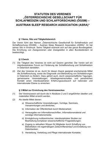 ASRA/ÖGSM Statuten - Österreichische Gesellschaft für ...