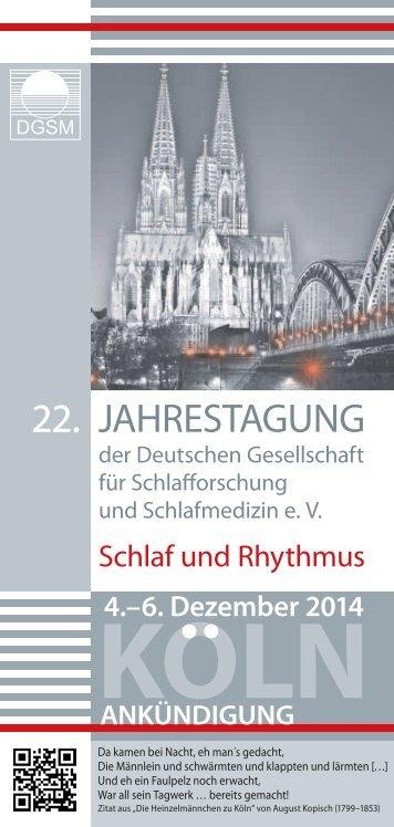 Ankündigung - Österreichische Gesellschaft für Schlafmedizin und ...