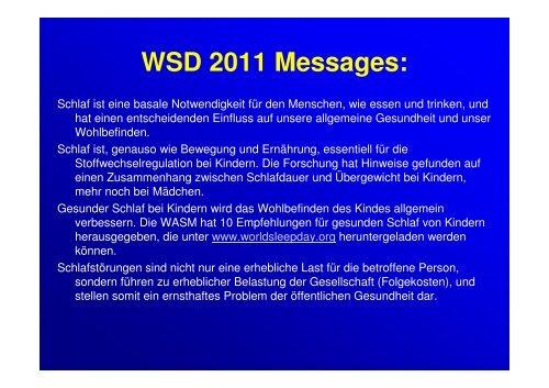 World Sleep Day 2011 Hogl.pdf - Österreichische Gesellschaft für ...
