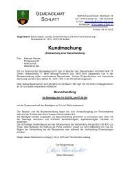 Kundmachung - Schlatt