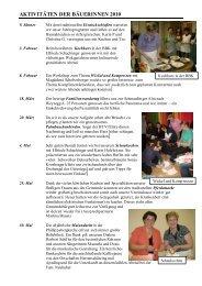 Jahresrückblick Bäuerinnen 2010 neu - Schlatt