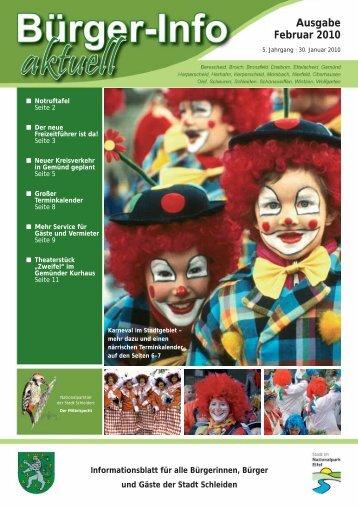 Ausgabe Februar 2010 - Stadt Schleiden