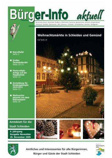 Ausgabe Dezember 2009 - Stadt Schleiden