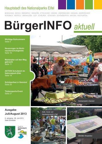 Ausgabe Juli/August 2013 - Stadt Schleiden