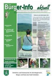 4. Jahrgang Ausgabe August 25. Juli 2009 - Stadt Schleiden