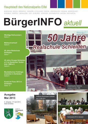 Ausgabe Mai 2013 - Stadt Schleiden