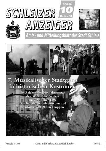 Amts- und Mitteilungsblatt der Stadt Schleiz