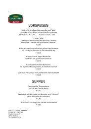 Speisekarte - Schlemmerinfo