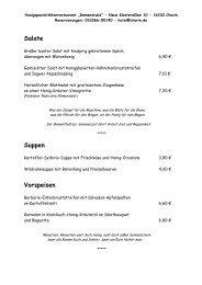 Speisekarte aktuell - Schlemmerinfo