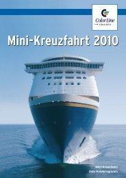 Mini-Kreuzfahrt 2010 - Urlaub in Schleswig-Holstein