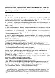 Analisi del rischio di investimento da carrelli in aziende agro alimentari