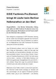 E/D/E Fachkreis Pro.Element bringt 44 Läufer beim Berliner ...