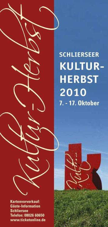 KULTUR- HERBST 2010 - Schliersee