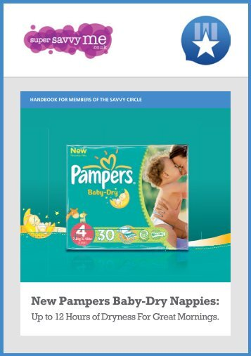 New Pampers Baby-Dry Nappies: - Savvy Circle - Supersavvyme