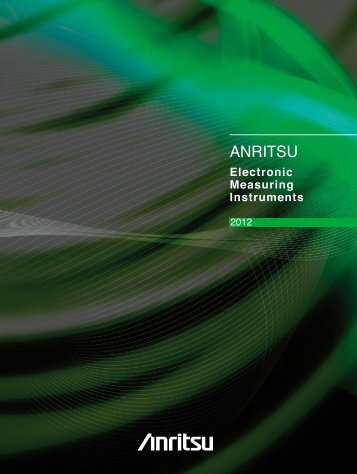 Anritsu Electronic Measuring Instruments Catalog ... - AFC Ingenieros