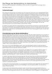 Die Pflege des Betriebklimas im Heimleiterbetrieb - Schloessli Ins