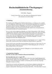 Hochschuldidaktische Überlegungen 2000 - Schloessli Ins