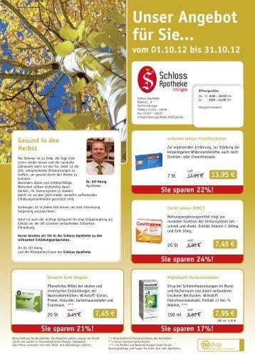 Unser Angebot für Sie... - Schloss Apotheke Ettlingen