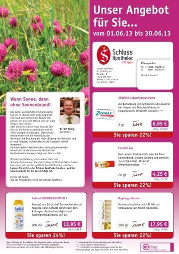 Bitte hier unseren Angebotsflyer herunterladen... - Schloss Apotheke ...