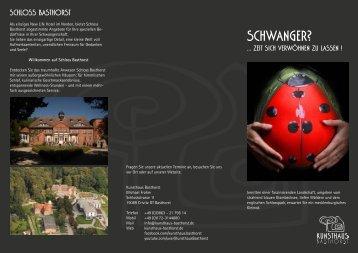 Angebot im Überblick - Schloss Basthorst Hotel & Restaurant