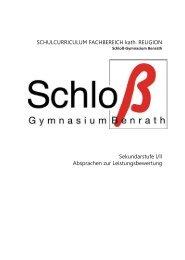 Kath. Religionslehre - Schloß-Gymnasium Benrath