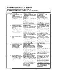 Schulinternes Curriculum Biologie - Schloß-Gymnasium Benrath