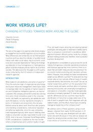 White Paper - Work versus life? - Directory of Research - ESOMAR