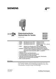 Siemens Stellantriebe Serie SKD - Birchmeier AG