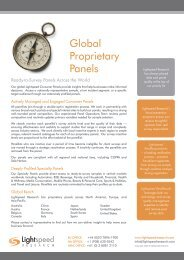 Global Proprietary Panels - Directory of Research - ESOMAR