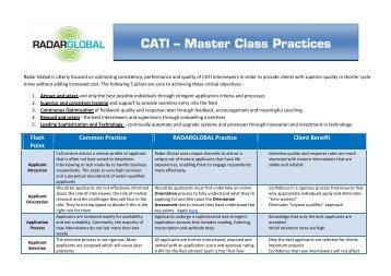 Flash Point Common Practice RADARGLOBAL Practice Client Benefit