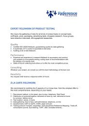 EXPERT FIELDWORK OF PRODUCT TESTING Quality ...