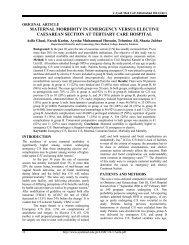 maternal morbidity in emergency versus elective caesarean section ...